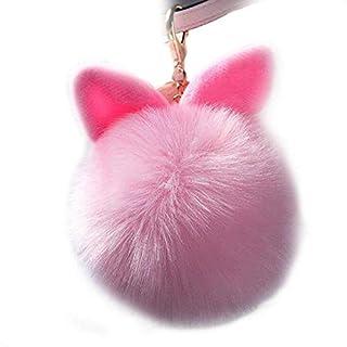 TREESTAR Niedlich Pompom Kaninchenohr Schlüsselanhänger Kreative Schlüsselbund Schlüsselring Mode Persönlichkeit Anhänger Auto Keychain für Handtasche Handy Geld Tasche Geschenk für Freundin Kinder