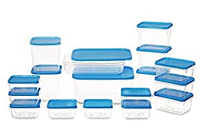 All Time Plastics Polka Container Set, 6.5 Litre, Set of 17, Blue