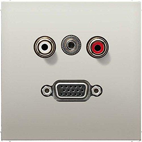 JUNG MAES1072 - PLACA AUDIO/MINIKLINKE/VGA ACERO PARA SERIE LS