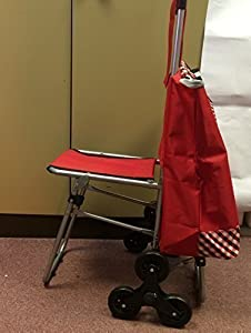 Mobility Aid -30 Litres Shopping Trolley Fitted with Fold Down Seat & stair climber wheels