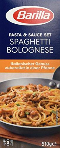 Barilla Pasta & Sauce Set Spaghetti Bolognese, 7er Pack (7 x 510 g) Spaghetti