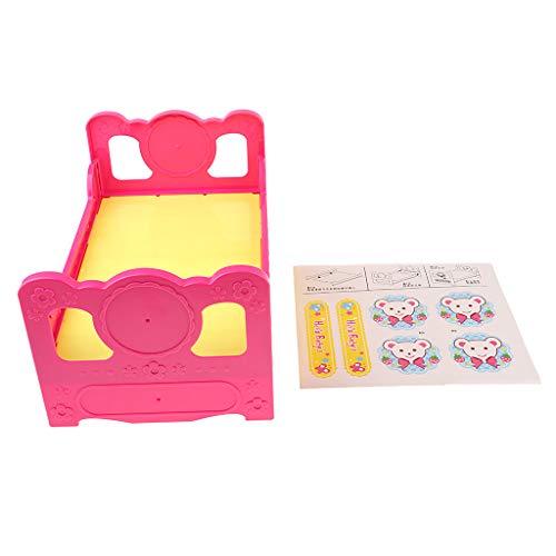 Bett-badewanne-bettwäsche (P Prettyia Puppenstubenmöbel Miniatur Stuhl / Bettwäsche/ Badewannen / Einzelbett / Schaukeln Bett Möbel Modell Für 25cm Mellchan Puppen - Einzelbett)