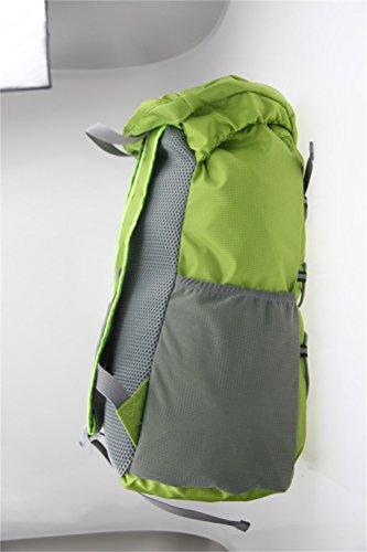 Outdoor Sporttasche Tasche Reiten Bergsteigen Rucksack Rucksack und Reiten Paket Schnalle Seil und Gaze Design. Größe: 43* 29* 26cm. grün
