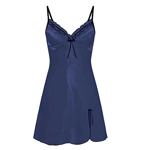 SANFASHION Damen Nighte Spitze Kleid Große Größen Bow Dessous Babydoll Nachtwäsche Sleepskirt