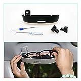 CDEFG Auto Custodia per Occhiali ABS Auto Anteriore Sunglasses Holder Box per Toyota Rav4 [2014-2019] Portaocchiali Auto (Nero)