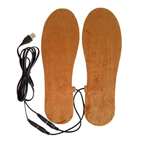 Z-YQL - Plantillas térmicas de Felpa para Hombre y Mujer, con alimentación eléctrica por USB, Recargables, térmicas, para Invierno, Mantener la Calidez de Las Plantillas, Hombre