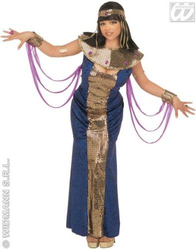 Ägyptisches Kostüm Nofretete (Widmann 3187E - Damen Kleopatra oder Nofretete Kostüm, Größe)