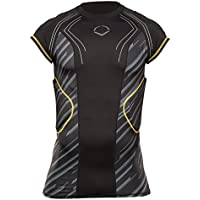 EvoShield juventud customtech evoalpha fútbol Rib camiseta - 2055331.003.YM, Negro / Gris