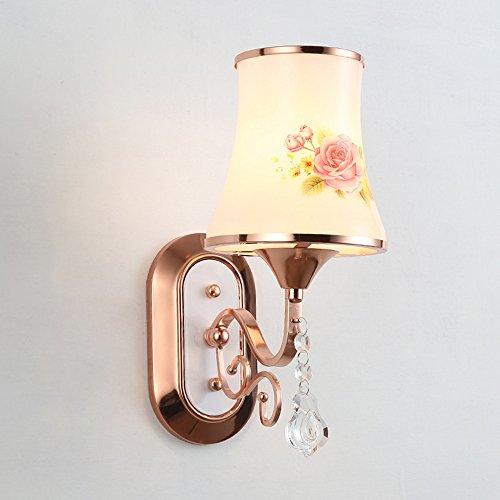 GNOW Lampe Murale À Led Lampe De Chevet Lampe De Chevet Lampe Murale À Escalier Lampe Murale Contemporaine Simple À Rideau, E14-Rose 15 * 35 * 18Cm