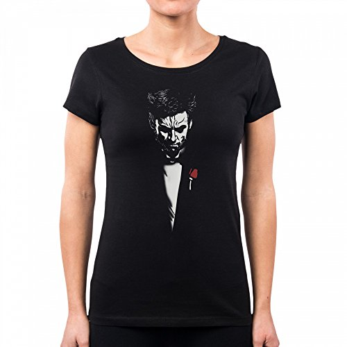 PacDesign Camiseta Mujer The Immortal Logan Wolverine Godfather Padrino X Men Dj0037a, L, Black