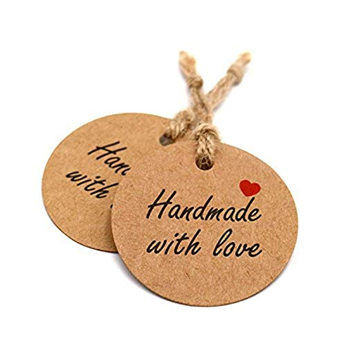 h Red Heart Kraft Gift Tags Wedding Party Paper Hang Tags Price Label Hang Tag Cards DIYPaper Gift Wrapping ()