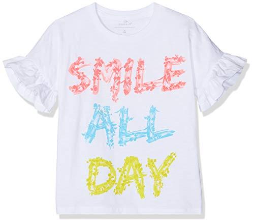 NAME IT Mädchen Nmfjasdina Ss Top T-Shirt, Weiß (Bright White), (Herstellergröße:104)