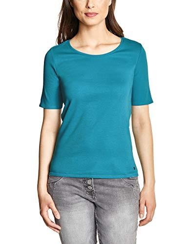 CECIL Damen 311780 Lena T-Shirt per pack Türkis (cool lagoon blue 11813), Large (Herstellergröße:L)