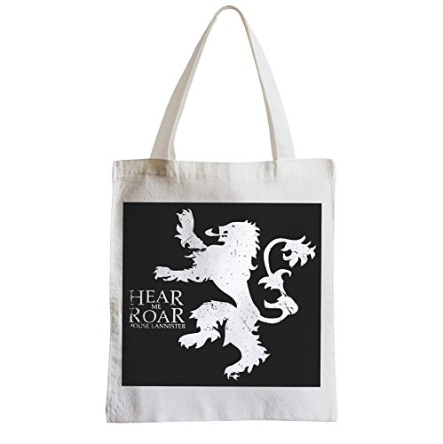Grand Sac Shopping Plage Etudiant Game Of Thrones House Lannister Hear Me Roar
