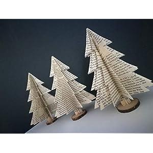 """3er-Set Deko""""großer Tannenbaum""""/Tischdeko/Weihnachtsdeko/Christbaum/Weihnachtsbaum"""