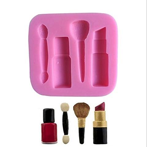 VBAI Lippenstift Form-Backformen Form Kuchenformen Fondant Kuchen Zuckerglasur Sugarcraft Dekorieren Formwerkzeuge #48