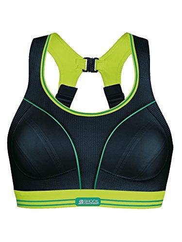 Shock Absorber Ultimate Run Sports Bra 5044 Black-Lime DD 32