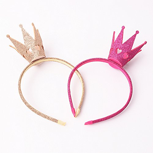 Shining Krone Haar Hoop Geburtstag Party Kid 's mit Kopfbedeckungen Weihnachten Kinder Haar-Styling-Zubehör, Faser, champagnerfarben, 21*13 CM
