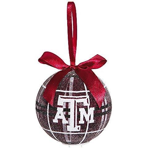 Texas & Aggies M A LED con decorazione natalizia, motivo: Plaid - Texas Glitter