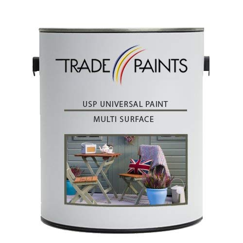 Price comparison product image USP Universal Surface Paint / Multi Surface Paint MSP for Wood,  Metal,  Masonry,  Plastic / Interior,  Exterior,  Satin,  (2.5 Litre,  Goose Grey)