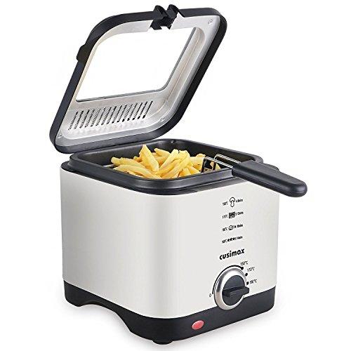 Cusimax 1.5L Mini Deep Fryer Ele...