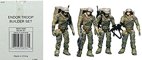 Star Wars Power of the Force Endor Troop Builder Set of 4Figures–Collection Hasbro