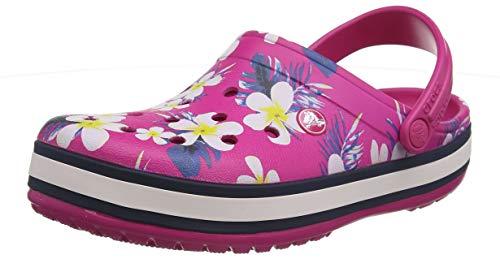 Crocs Unisex-Erwachsene Crocband Seasonal Graphic Clogs,Pink (Candy Pink/Floral 6pw), 42/43 EU