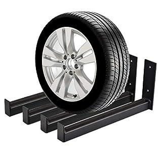 Buyi-World 4 Pcs Reifenwandhalter Reifenregale Felgenhalter Wandhalterung Belastung 50 kg, 31x14cm