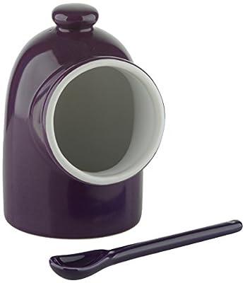 Scoop! Salt Pig & Spoon Purple, Porcelain by BIA