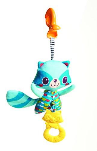Tiny Love 33311126 Stoffspielzeug Jitter Teether Raccoon (Waschbär), mehrfarbig