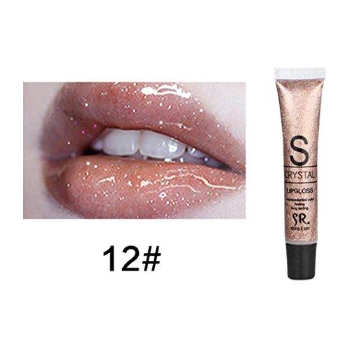 Culater Bonbon Couleur Brillant lèvres Gloss Imperméable à l'eau Brillant à lèvres Liquide Hydratant Longue durée (L)