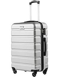 COOLIFE Hartschalen-Koffer Trolley Rollkoffer Reisekoffer mit TSA-Schloss und 4 Rollen