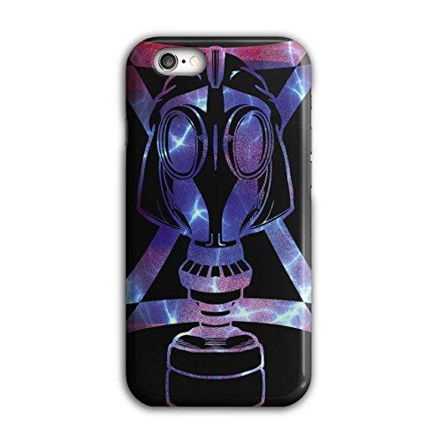Gas Maske Abstrakt Mode Verkleidung Gesicht iPhone 6 / 6S Hülle   Wellcoda (Billig Gas Maske)