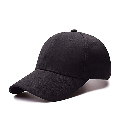 AMERICANSTAR Baseball Cap Classic Sport Sonnenhut Einstellbare Casual Pferdeschwanz Plain Hat für Frauen Männer (Plain Baseball Cap Schwarz)