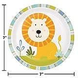 Creative Converting 324578 Brotteller Wild Safari Löwe Kuchen/Dessert, 17,8 cm, mehrfarbig
