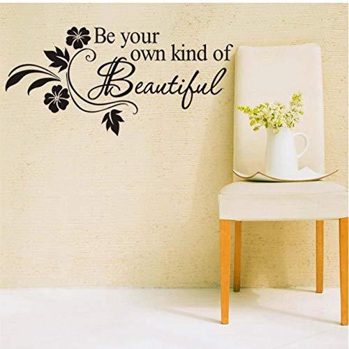 Lyiting Seien Sie Ihre Eigene Art Von Schönen Wandaufkleber Zitate Schriftzug Worte Für Kinder Mädchen Schlafzimmer Badezimmer Home Decor Aufkleber