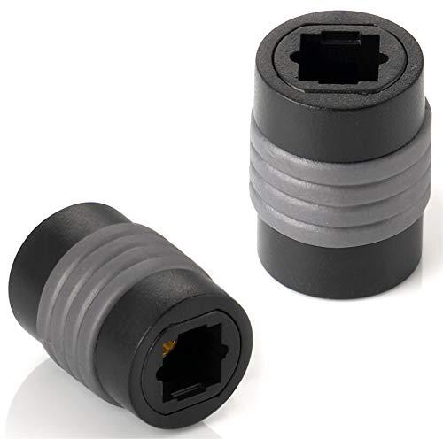 S-video-tos-video (Poppstar 2X Toslink Adapter (Kupplung Toslink Buchse auf Buchse), Verlängerung für Toslink Optisches Digital-Audiokabel (TOS Kabel), S/PDIF Kabel)