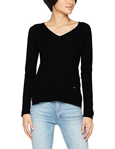 Armani Jeans Damen Rollkragenpullover, Schwarz (Nero 1200), 36 (Herstellergröße: 42) (Wolle Pullover Armani)