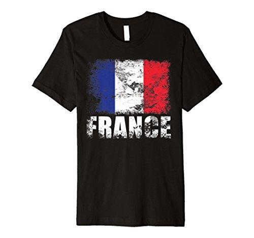 Frankreich Flagge T-Shirt Französische Flagge Tee Geschenk