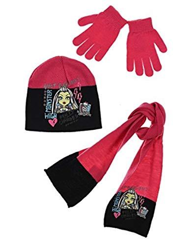 Preisvergleich Produktbild Monster High Mädchen Handschuh-Set Gr. 52 cm,  Fuchsia
