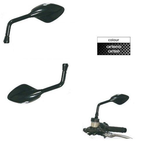 Paar Lenker Spiegel für Motorrad Rückspiegel Carbon Lock Far für KTM 200Duke 2011–2012 (Ktm Duke 200-lock)