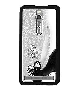 PRINTVISA Abstract Angel Case Cover for Asus Zenfone 2::Asus Zenfone 2 ZE550ML