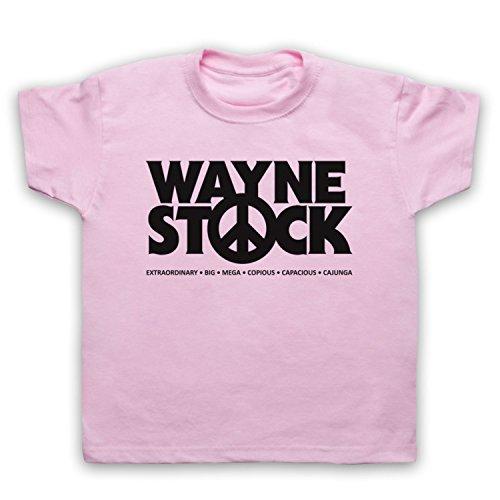 Inspiriert durch Waynes World 2 Waynestock Unofficial Kinder T-Shirt, Hellrosa, 12-13 Jahren