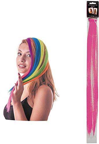 Party Pro - Mèche à Clipser, Unisex-Adult, 86239, Rose, Taille Unique