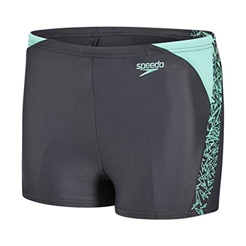 Speedo Boom Splice Badeshorts für Knaben, Jungen, Boom Splice, Oxid/Green Glow (Badehose Jungen Neu)