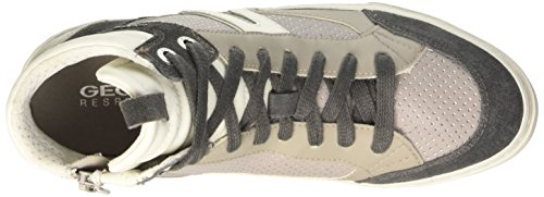 Geox D New Club A, Scarpe a Collo Alto Donna Grigio (Lt Grey)
