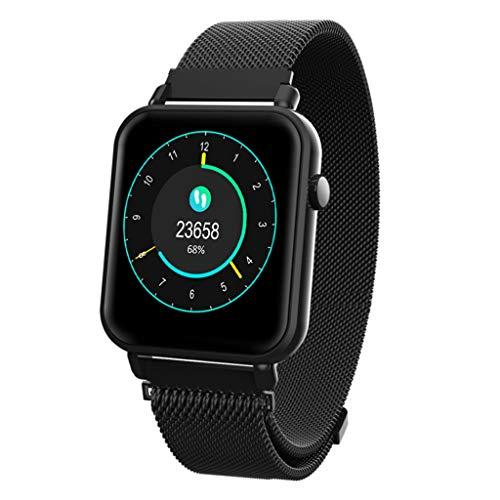 jingjingqibraccialetto intelligente smart watch bt4.0 frequenza cardiaca sangue blood blood pressure tracker fitness tracker impermeabile sport smartwatch, nero