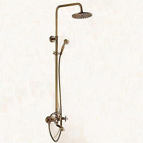 MCC Douche douche set salle de bain avec chaude et froide Thermostatic Chrome Finish Square Riser Slider pour salle de bain antique cuivre , B