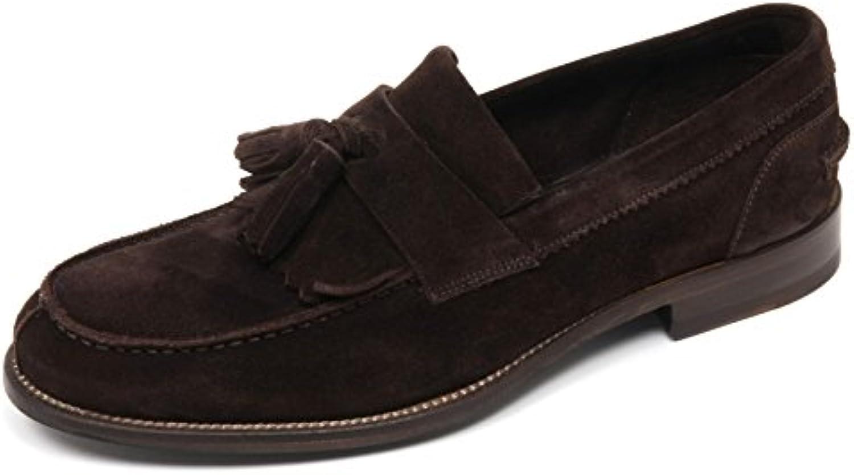CARACCIOLO C7818 Mocassino Uomo 1971 Scarpa Marronee Scuro Loafer scarpe Man   Bella arte    Uomo/Donna Scarpa