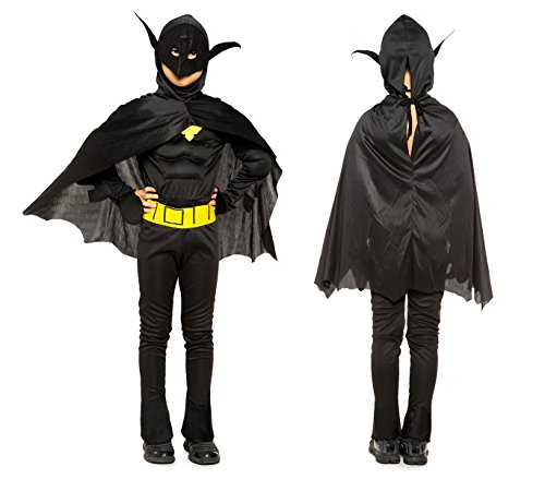 Media wave store 538117 costume carnevale super eroe pipistrello da bambino da 6 a 8 anni